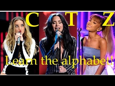 LEARN THE ALPHABET with Female Singers HIGH NOTES!!!