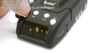 видео Видеорегистратор с радар-детектором Subini GR-H9 Plus
