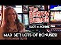 Trying the Brady Bunch Slot Machine! MAX BET! Lots of BONUSES!!!