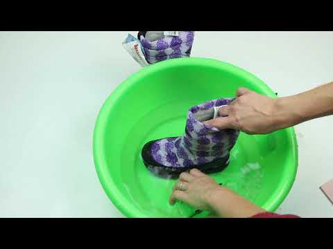 Эксперимент на водонепроницаемость. Сапоги Kuoma.