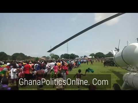 President Mahama begins campaign tour in  Brong Ahafo Region