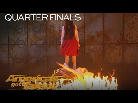 The Sacred Riana: Magician Scales Wall, Summons Terrifying Look-alikes - America's Got Talent 2018