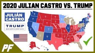 Julian Castro vs. Donald Trump 2020 Map Prediction - 2020 Electoral Map Projection