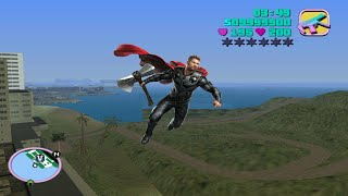 How to get Thor powers in GTA Vice City   Thor mod in GTA Vice City  Thor cheat