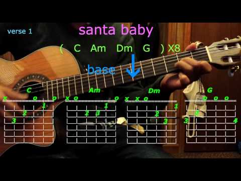 santa baby ariana grande guitar chords