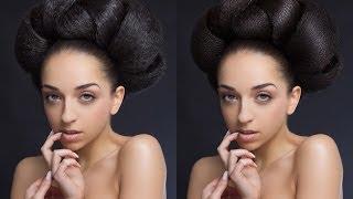 Ретушь и обработка волос в Photoshop. Видеоурок.