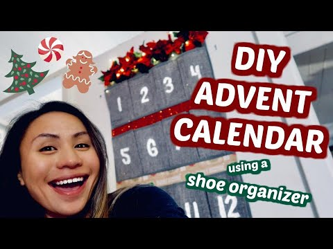 DIY ADVENT CALENDAR USING A SHOE ORGANIZER (Christmas Edition) | The Stanley-Savea's