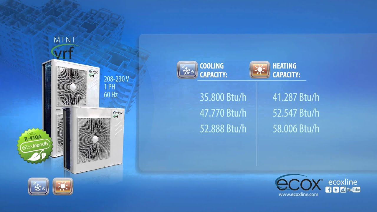 Ecox Mini Vrf System Youtube