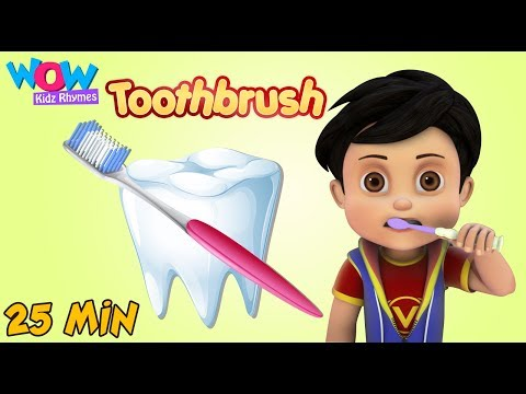 Nursery Rhymes Learning Videos for Kids  | Tooth Brushing Song  | Healthy Habits Songs