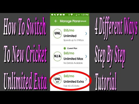 How To Switch Plan Unlimited Extra Plan Cricket Wireless Step By Step  Tutorial 4 Ways!