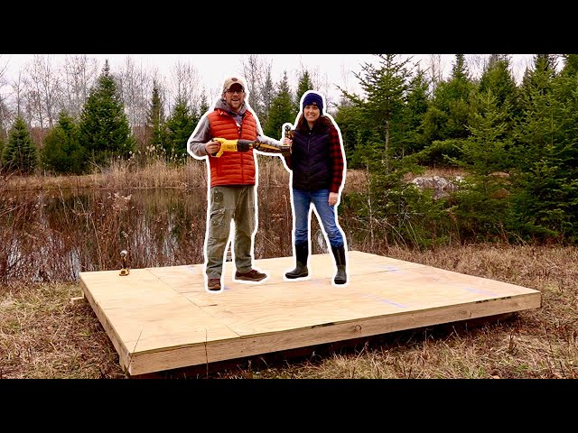 Day 2 BUILDING Our COMPOSTING OutHouse on Our OFF GRID PROPERTY