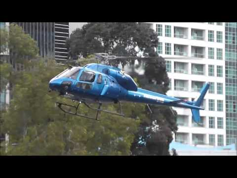 Busy Yarra Heliport operations