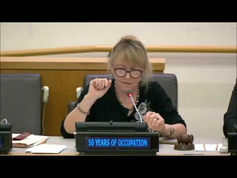 Jody Williams - UN Forum: Ending the Occupation Creating the Space for Human Rights and Peace