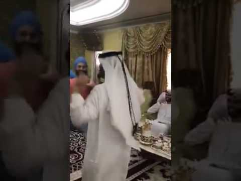 Eid celebrations in Dubai U.A.E in punjabi style sheikh full on dhol chimta algozey bhangra luddi