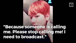 Video EXO's Baekhyun apologizes for sasaeng fan calls constantly interrupting 'V' live broadcast download MP3, 3GP, MP4, WEBM, AVI, FLV Juni 2018