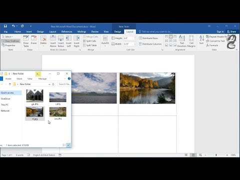 Drag and drop photos or images into word : How to insert images into word document table