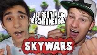 JIJ BENT MIJN BESCHERMENGEL! - Minecraft Skywars