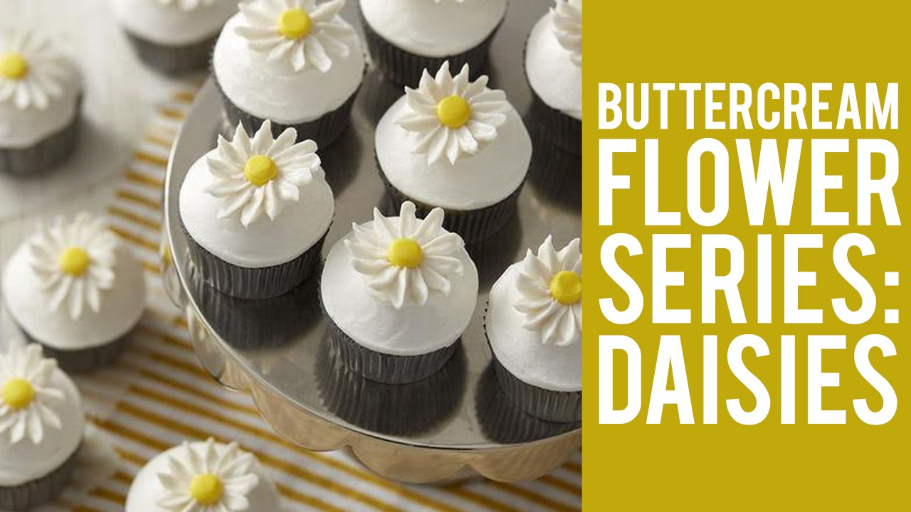 How To Make Buttercream Flowers Daisies Youtube
