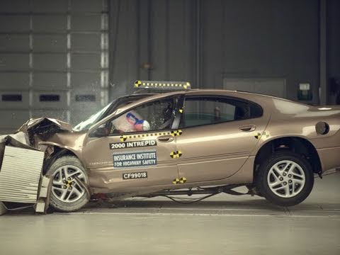 2000 Dodge Intrepid moderate overlap IIHS crash test