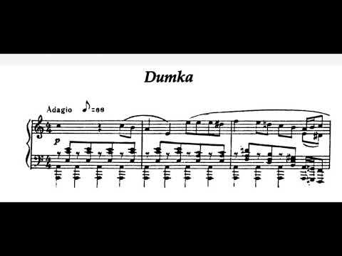 Sergei Prokofiev - Dumka In A Minor (audio + Sheet Music)