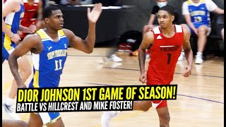 Dior Johnson FIRST High School Game Of Season!! INTENSE BATTLE vs 5 Star Mike Foster!!