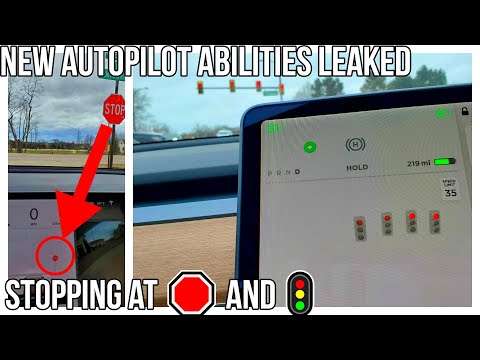 Tesla's Stop Sign And Stop Light Autopilot Update LEAKS! | Full Overview | Video | Full Self Driving