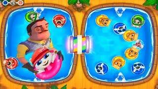 ГОВОРЯЩИЙ ТОМ АКВАПАРК #12 Анджела Хэнк Бен и Джинджер мультик игра видео для детей Talking Tom Pool