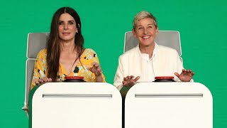 Find out who Sandra Bullock wants to do a love scene with, and how drag queens helped her make money, as the Oscar winner answered Ellen's Burning ...