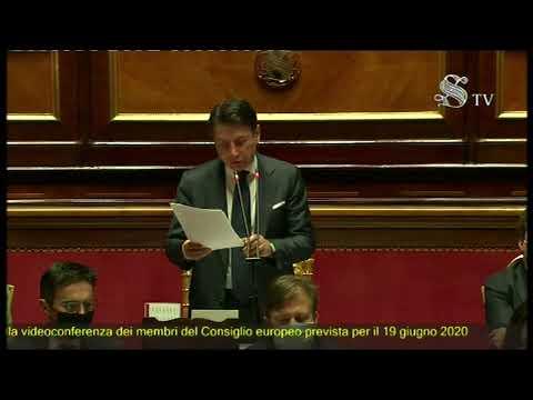 Consiglio europeo, informativa del Presidente Conte al Senato
