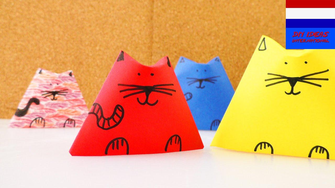 Zelf poezen maken van papier cool deco idee voor thuis knutselen met kinderen youtube - Idee voor thuis ...