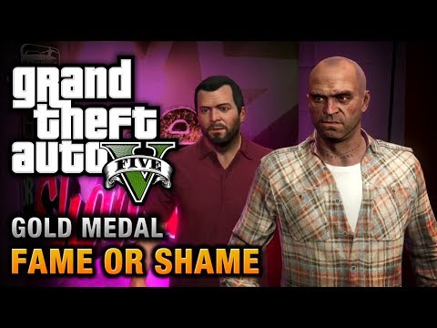 GTA 5 - Mission #22 - Fame or Shame [100% Gold Medal Walkthrough]