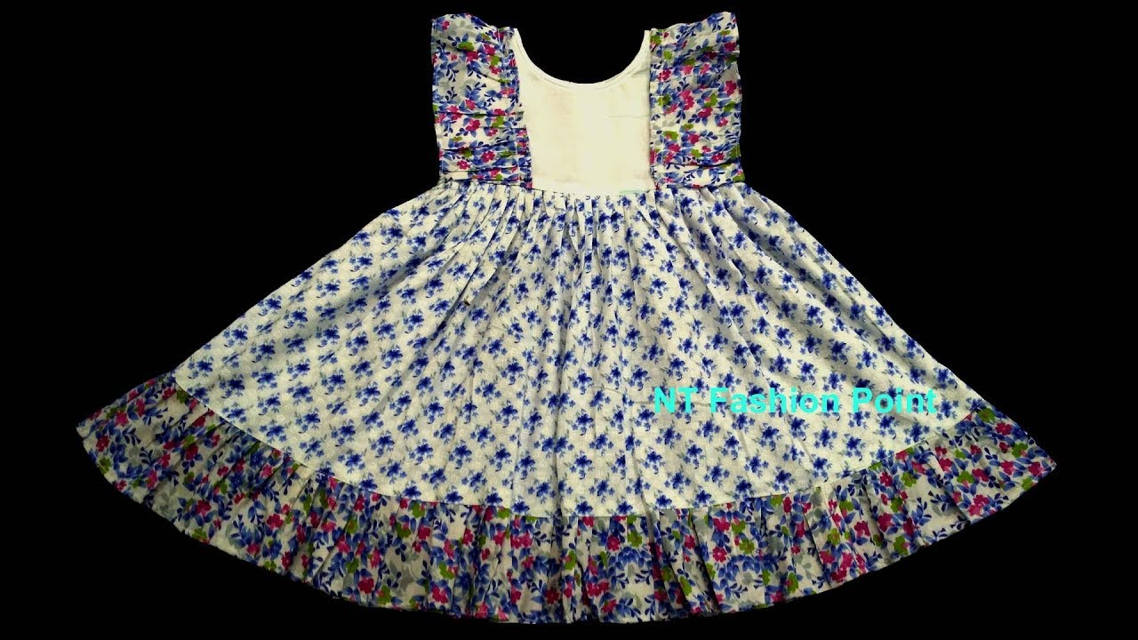 354011bc221f DIY Kids summer wear baby frock designs 2018 - YouTube