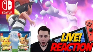 INSANE REACTION! Pokemon: Let's Go Pikachu! & Eevee Reveal Trailer Live Reaction!