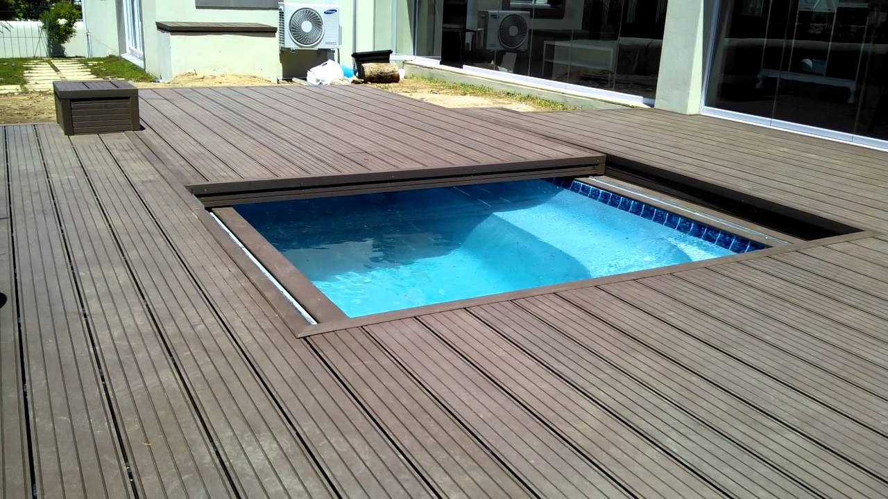 Jacuzzi Pool Covers Decks4life Composite Deck With Motorized Pool Sliding Cover