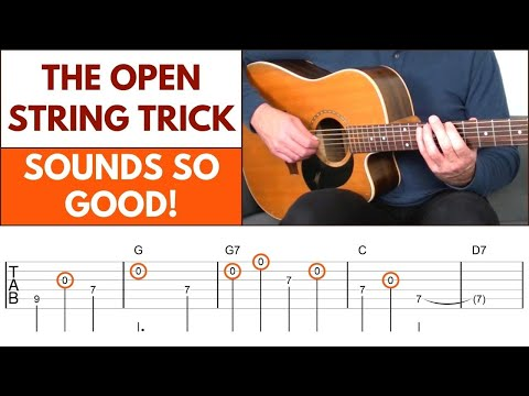 How To Create Beautiful Melodies On Guitar [The Open String Trick]
