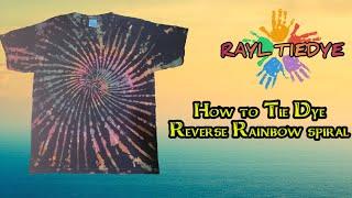 Tie dye : Reverse Rainbow Spiral - RAY TIEDYE