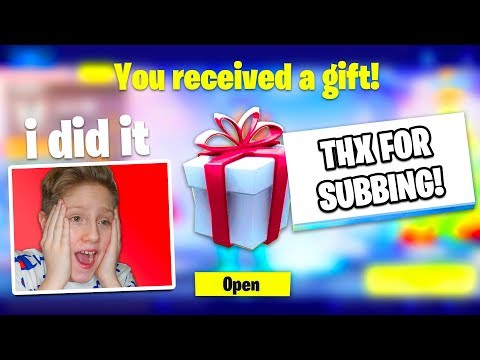 Gifting Skins To Random Fortnite Subscribers
