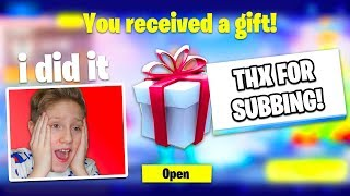 Gifting Skins To Random Fortnite Subscribers