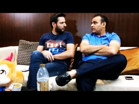Watch: 'War of Words' between Sehwag and Afridi regarding the format of cricket