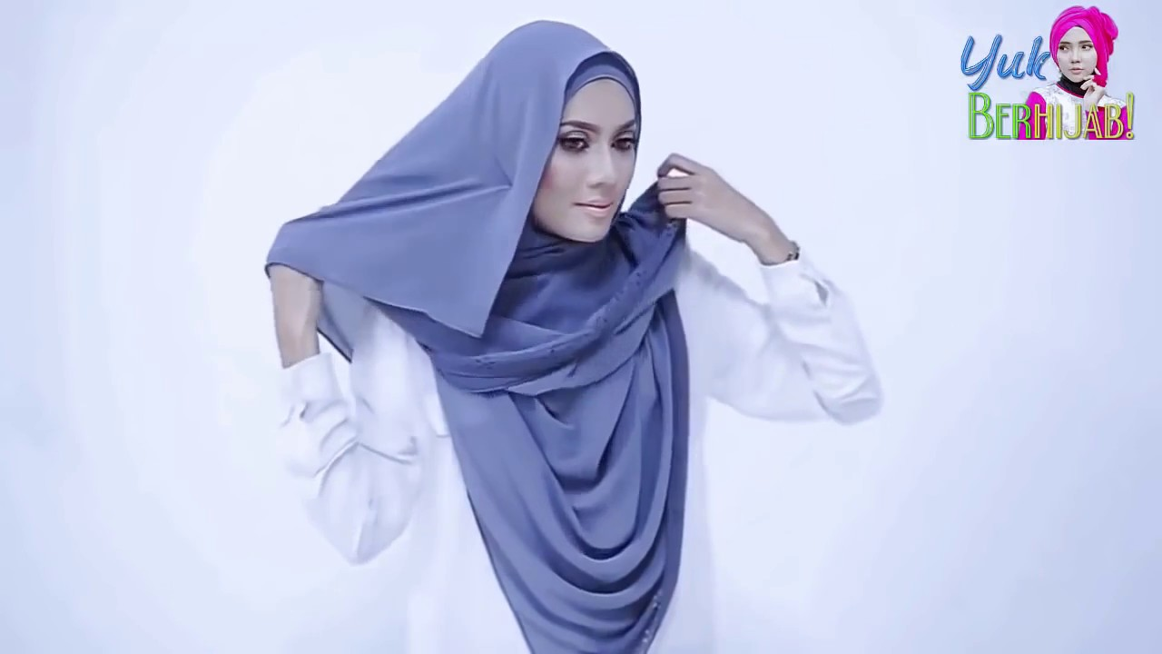 Tutorial Hijab Pashmina Simple Tutup Dada YouTube
