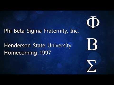 Henderson State University Homecoming Greekshow 1997-Theta Alpha-Phi Beta Sigma Fraternity, Inc.
