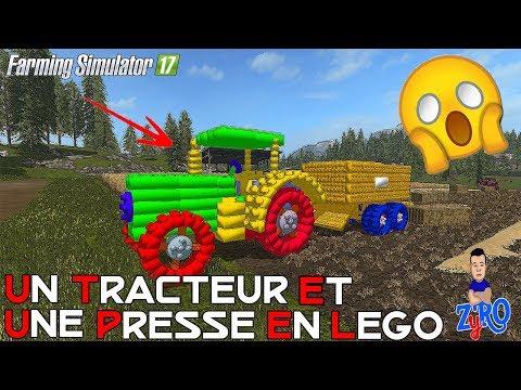 🚜 UN TRACTEUR ET UNE PRESSE EN LEGO ! Farming Simulator 2017   ! 🚜