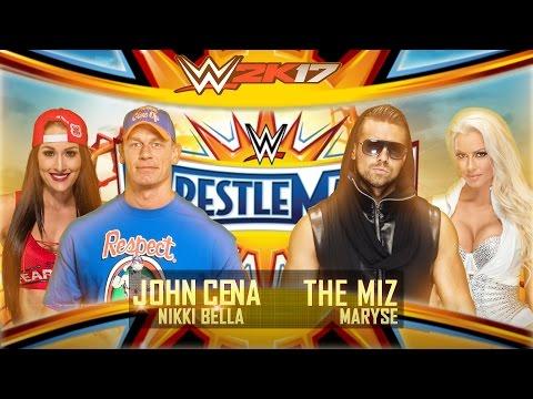 WWE 2K17 - WWE Wrestlemania 33: John Cena w/ Nikki Bella vs The Miz w/ Maryse