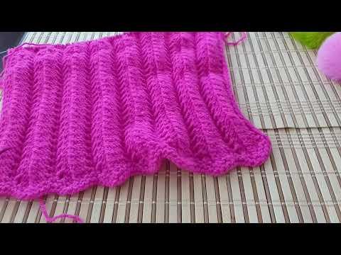 Ажурный узор спицами для юбки