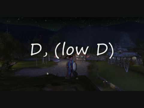 LotRO ABC Notation Drum Sound Check Lowest D D,