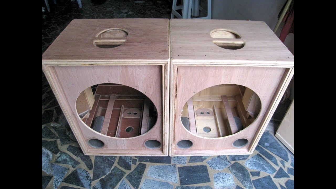 DIY 15吋同軸 PA 音箱. Coaxial speaker - YouTube