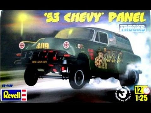 How to Build the 1953 Chevy Panel Truck Gasser 1:25 Scale Revell Model Kit #85-4189 Review