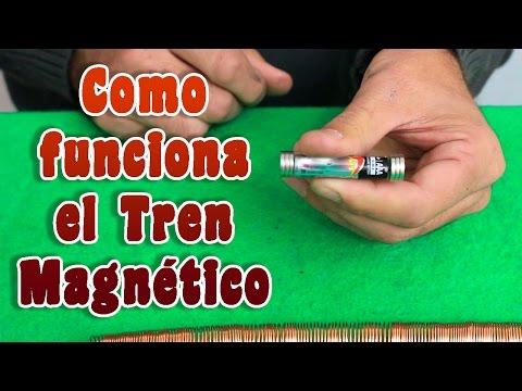 Como funciona el tren magnético │ Experimento │ Magnetismo