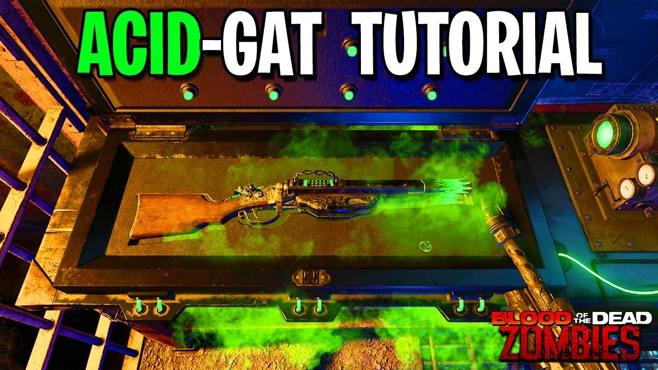 How To Build Acid Gat In Blood Of The Dead Black Ops 4 Zombies Gameplay Tutorial Parts Guide Youtube