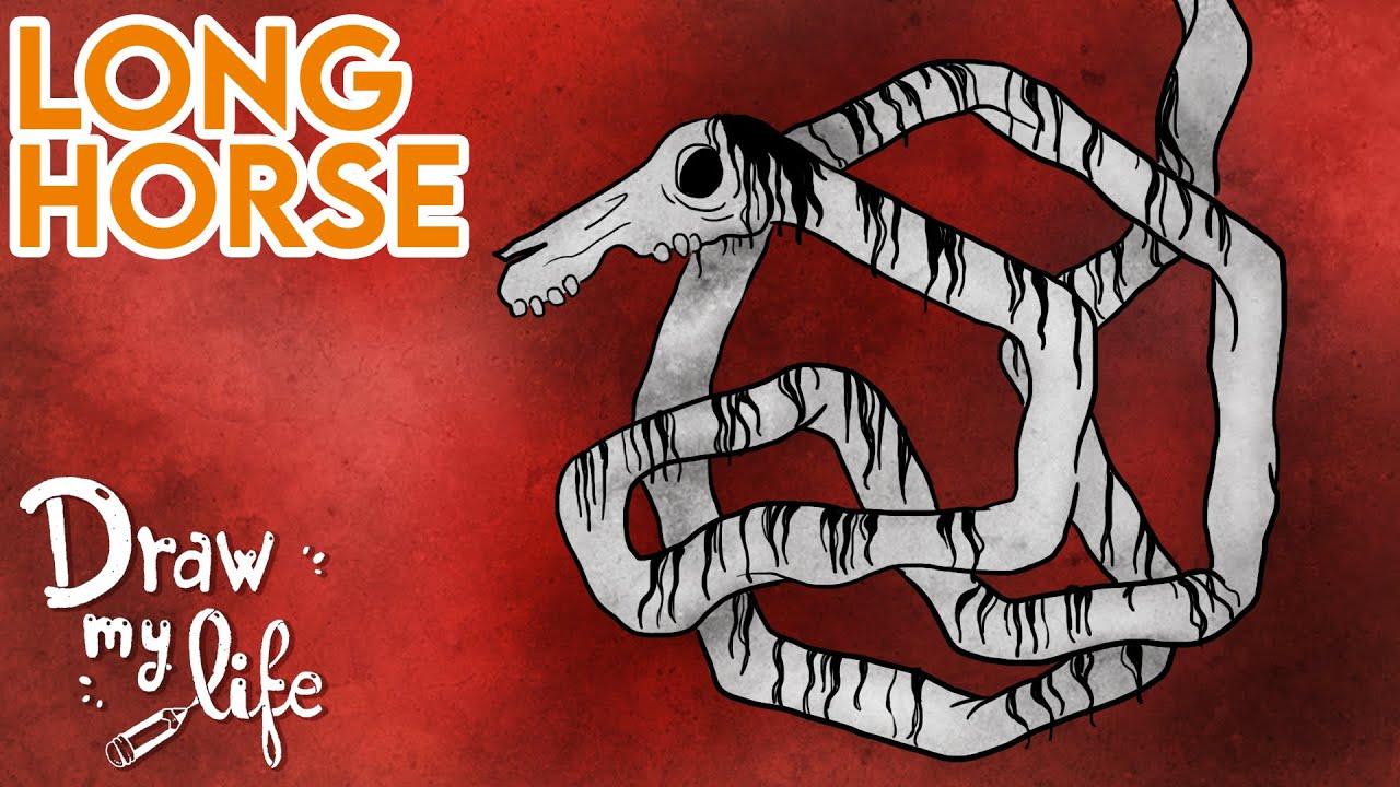 ¿Qué es LONG HORSE? (Creepypasta) | Draw My Life